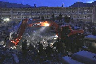 中国青海省地震