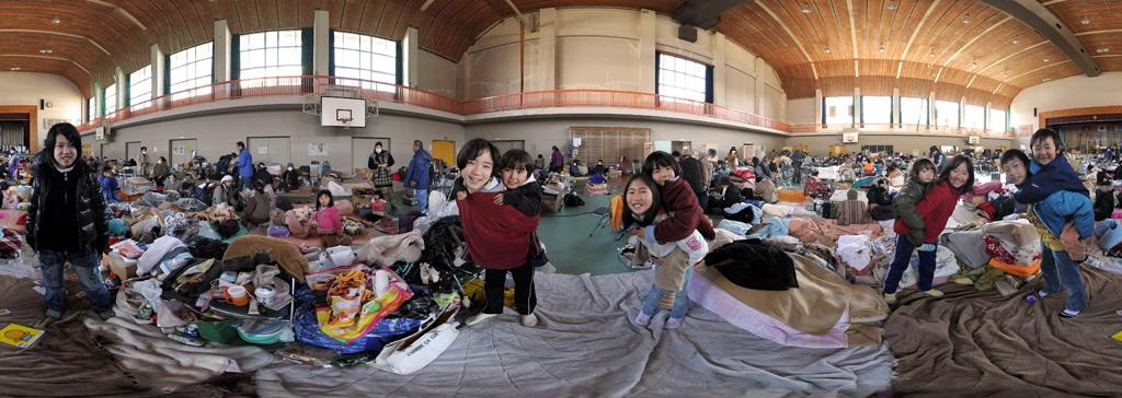 小学校に避難した子供たち〜南三陸