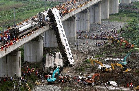 中国高速鉄道事故