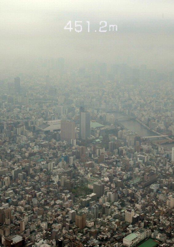 東京スカイツリー天望回廊最高地点