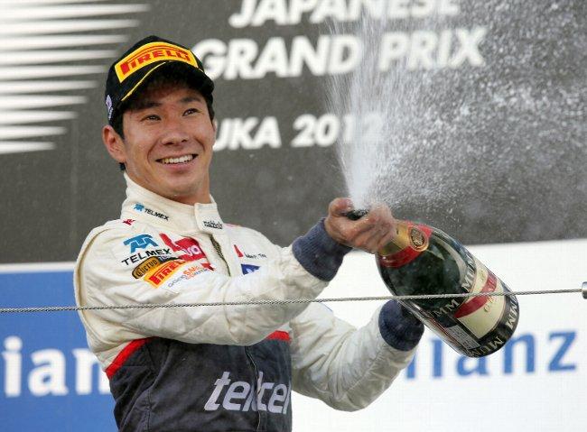 小林可夢偉、F1日本GPで鈴木亜久里以来22年ぶり快挙3位
