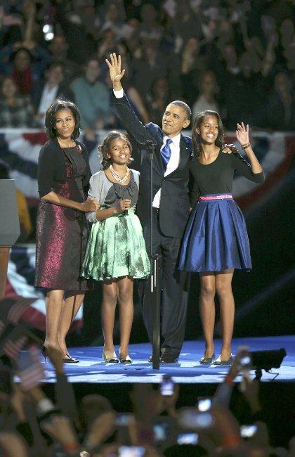 激戦制し、オバマ大統領再選