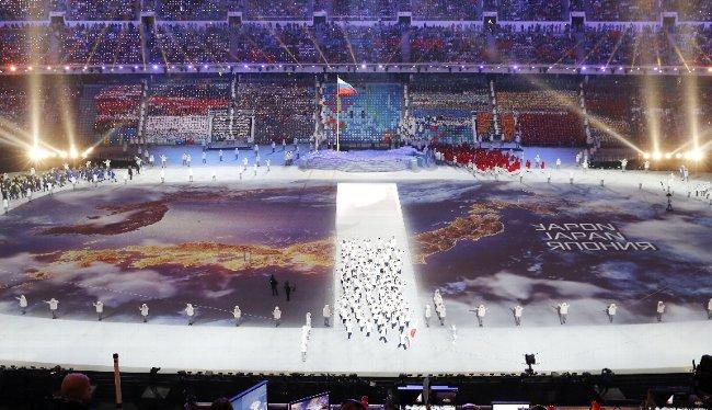 日本選手団、日本地図を縦断