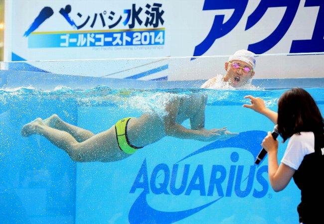 北島、リオ五輪へ新泳法?