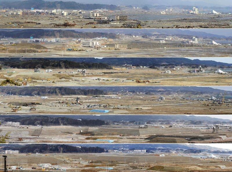 陸前高田5年間の定点撮影